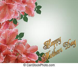 Mothers Day Card Border Azaleas - Illustration and image...