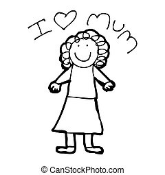 mother's day card cartoon