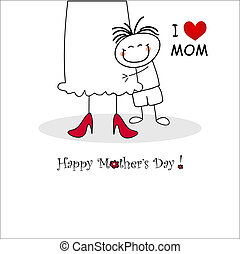 Mother's day card - Cut mother's day card - vector ...