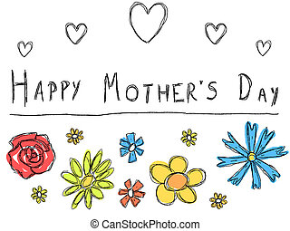 Mother's day card - Happy Mother's Day - greeting card with ...