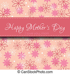 Mother's Day card - Happy mother's day. Greeting card with ...