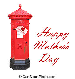 Mother's Day card in a postbox