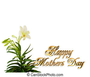 Mothers Day Card Lily border
