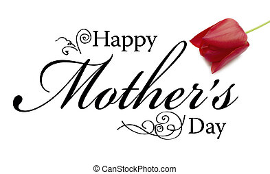 Mother's Day Card - Mothers Day Card with text, rose and ...