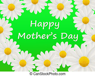 Mother\'s Day card with a daisies