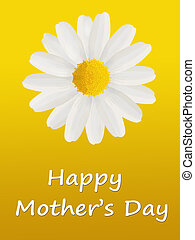 Mother\'s Day card with a daisy