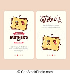 Mother's day card with creative logo and pink theme vector