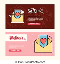 Mother's day card with letter logo and pink theme vector