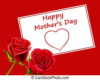 Mother\'s Day card with roses