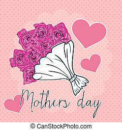 Mothers Day - Happy Mothers Day concept, vector illustrator