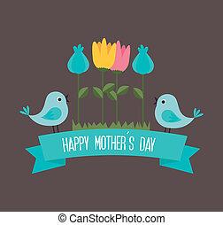 Mothers day design over dark background, vector illustration