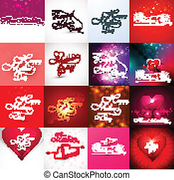 Card mother day background collection vector illustration
