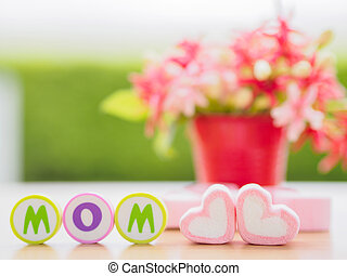 mother's day concept. LOVE MOM