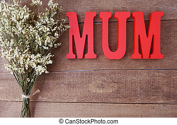 mother's day concept with space for copy background