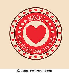 Mothers day design over  background, vector illustration