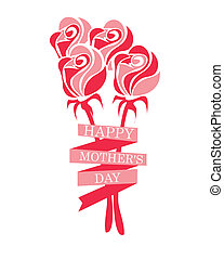 Mothers day design over white background, vector...