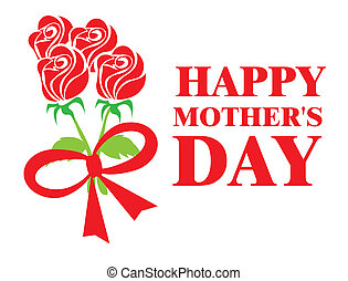 Mothers day design over white background, vector ...