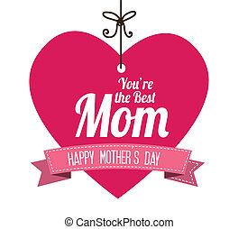 Mothers day design over white background, vector illustration