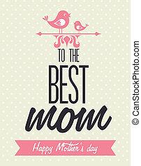 Mothers day design over beige background, vector...