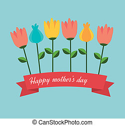 Mothers day design over blue background, vector illustration