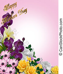 Mothers Day Floral background - Image and illustration...