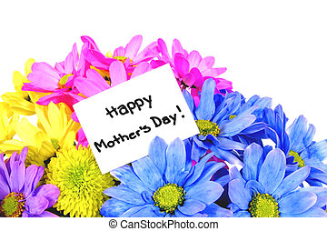 Mother's Day flowers with gift tag