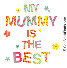 Mother's Day Greeting Card - A greeting card template for...
