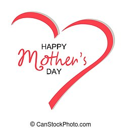 Mother's day greeting card, postcard