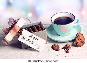 Mother's day greetings cup& present box cookies. - Romantic ...