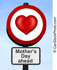Mother's Day heart road sign