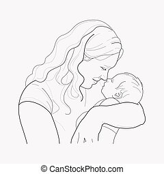 Mothers day icon line element. Vector illustration of mothers day icon line isolated on clean background for your web mobile app logo design.