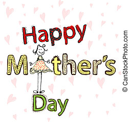 Mothers day illustration - Hand drawn mothers day card with ...