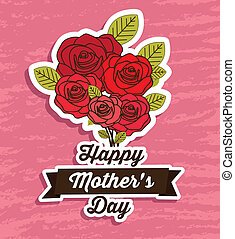 Mother's Day - Illustration of the celebration of Mother's...