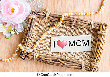 Mothers day message with tag.