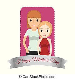 mothers day mom with child lovely card