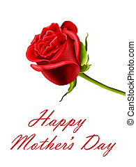 Mother's Day red rose