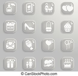 Mothers day simply icons for web