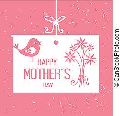 Mothers day design over pink background, vector illustration