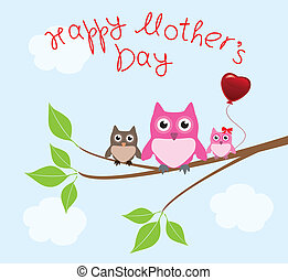 vector mother's day card