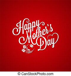 mothers day vintage lettering background