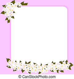 Wedding card with space for your text decorated with flowers