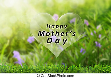 Mothers day with heart shaped greeting