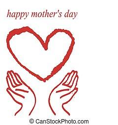 mother\'s, dia, feliz