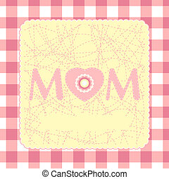 mother\'s, eps, dia, 8, template., cartão, feliz