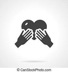 Mothers love black design vector icon