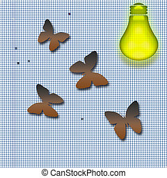 moths attraction - moths drawn to the light concept...