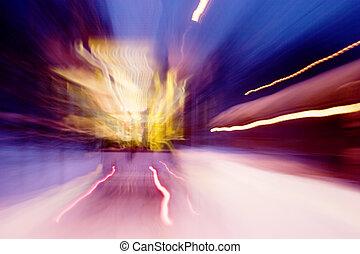 motie, auto, straat
