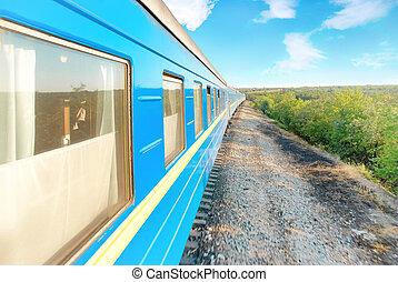 motie, moderne, spoorwegtrein