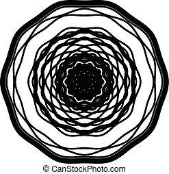 motief, kalk, abstract, radiaal, concentrisch, geometrisch,...
