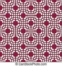 motieven, abstract, pattern., seamless, donker, achtergrond., vector, wit rood